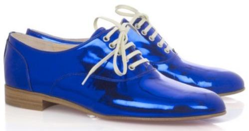 Christian Louboutin Metallic Blue Freds