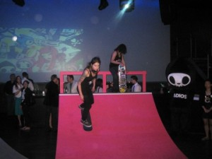 Skateboarders at the Tokidoki x Sephora party