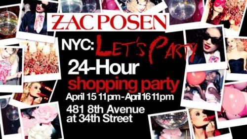 Zac Posen x Target Invitation