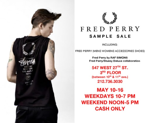 Fred Perry Sample Sale NYC 2010
