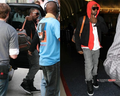 Kanye West in Ato Matsumoto studded boots