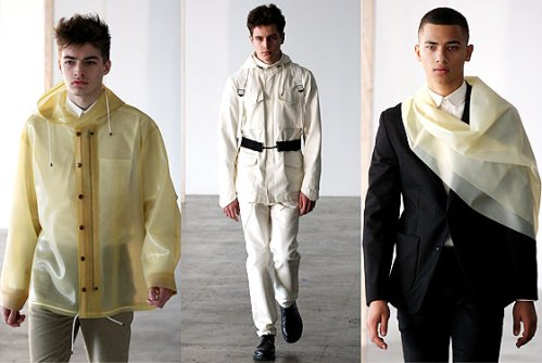Patrick Ervell raincoats - latex and rubber