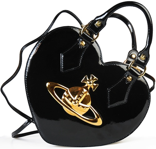 Vivienne Westwood - Heart Shaped 4863 Ebury black bag