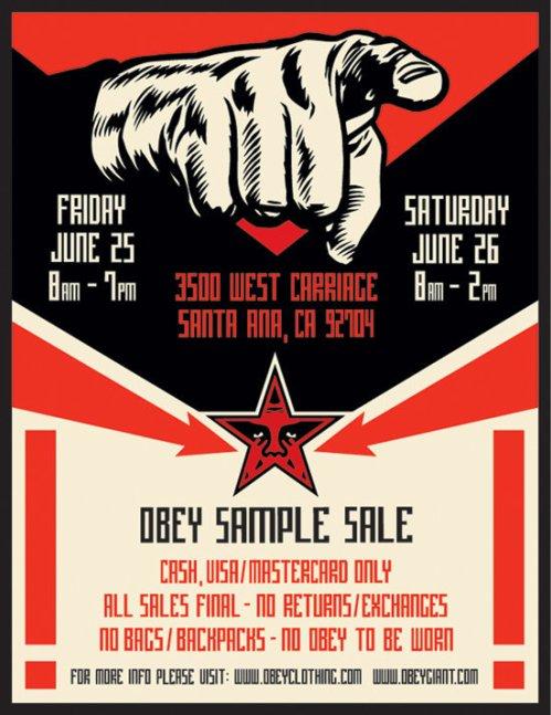 Obey-samplesaleJune2010-samplesaleshop, OBEY, Pop-up shop, sample, sample sale, Sample Sale Shop, samplesale, SampleSaleShop, SampleSaleShop.com, la, west coast, menswear, sheperd fairey, santa ana, los angeles